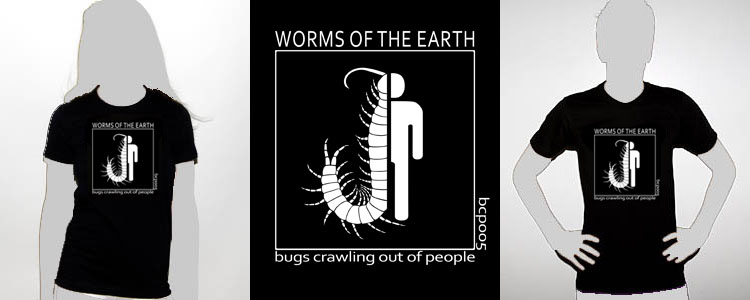 bcp005 bug logo worms of the earth shirt